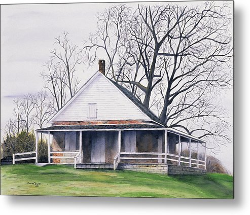 Quaker Metal Print featuring the painting Quaker Meeting House by Tom Dorsz