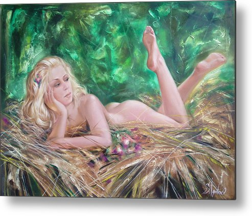 Ignatenko Metal Print featuring the painting The Pretty Summer by Sergey Ignatenko