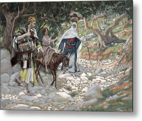 Ass Metal Print featuring the painting The Return From Egypt by Tissot