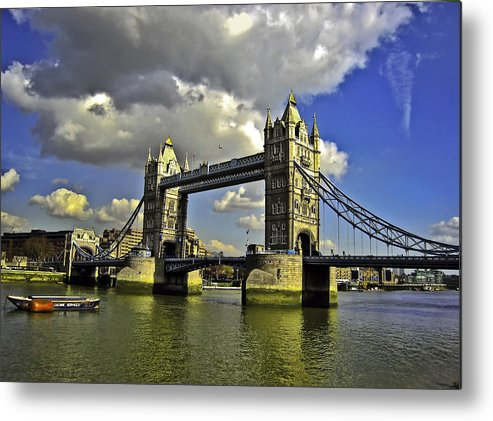 Bridge Metal Print featuring the photograph Tower Bridge I by Madeline Ellis