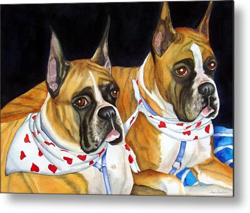 Animals Metal Print featuring the painting Waiting To Show by Gail Zavala