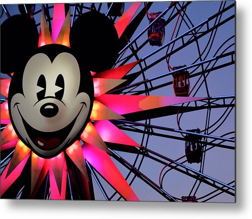 Mickey Metal Print featuring the photograph Happy Times by Camille Lopez