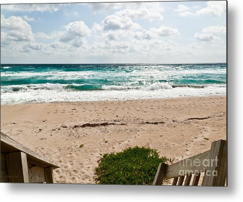 Beach Metal Print featuring the photograph Heading To The Beach Manalapan Florida by Michelle Wiarda-Constantine