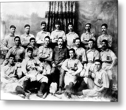 1880s Portaits Metal Print featuring the photograph Baltimore Orioles, Champion Baseball by Everett
