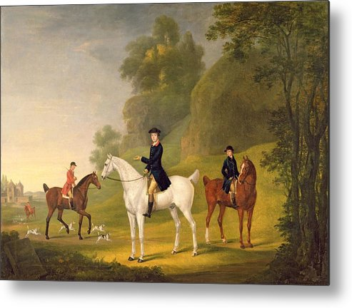 Xyc308406 Metal Print featuring the photograph Lord Bulkeley And His Harriers by Francis Sartorius