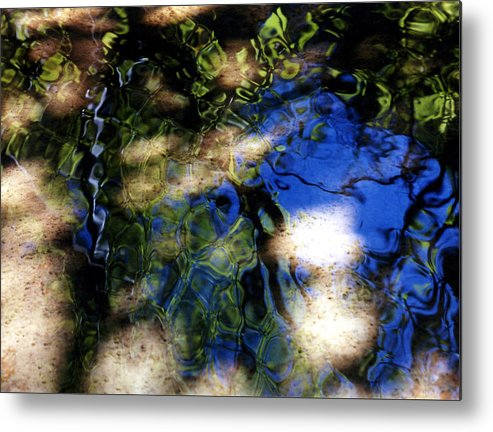 Abstract Metal Print featuring the photograph Abstract Water Blues by Heather S Huston