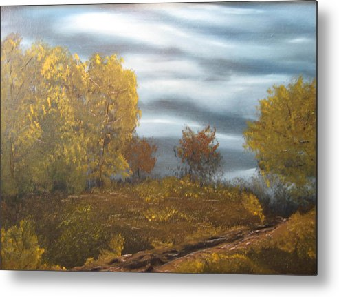 Landscape Metal Print featuring the painting Untitled by Todd Androy