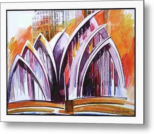Australia Metal Print featuring the painting Sydney Opera House by Yelena Revis