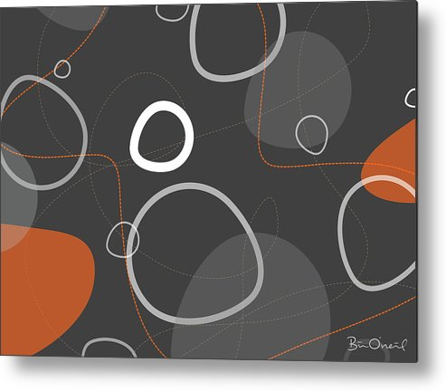 Retro Metal Print featuring the print Adakame - Atomic Abstract by Bill ONeil