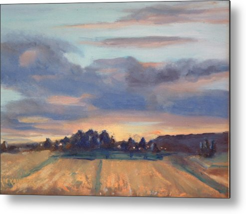 Landscape Metal Print featuring the painting After The Storm by Bryan Alexander