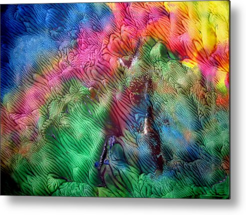 Texture Metal Print featuring the painting Art Leigh Odom 0004 by Leigh Odom