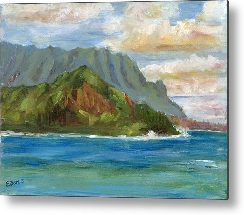 Seascape Metal Print featuring the painting Bali Hai by Elizabeth Ferris