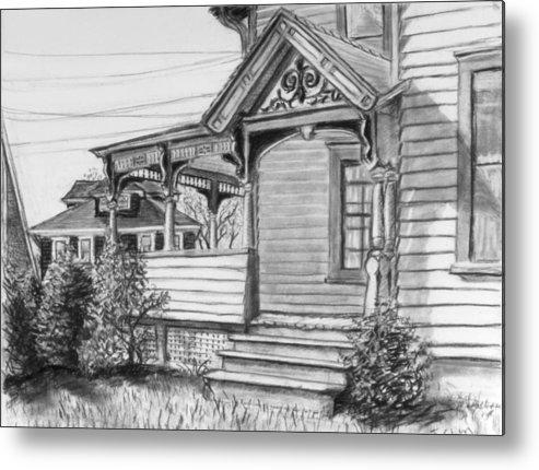 House Metal Print featuring the drawing Chenango Street Binghamton Ny by John Clum