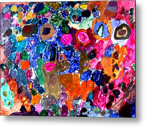Circles Metal Print featuring the painting Circles by Janice Michaud