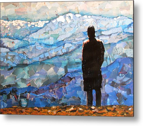 Mountain Veiw Metal Print featuring the mixed media Consumer View by Alicia LaRue