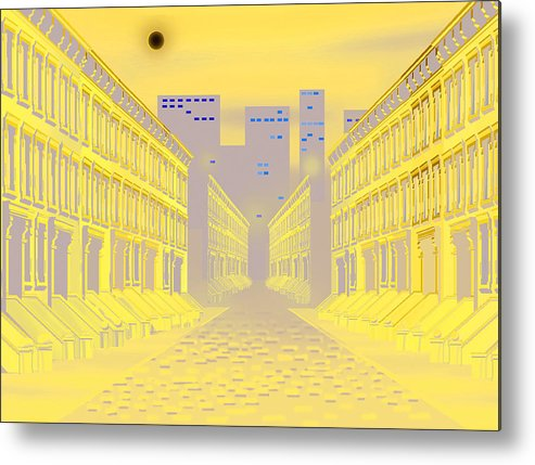 Wall Hanging Metal Print featuring the digital art Dark Street by Larry Ryan