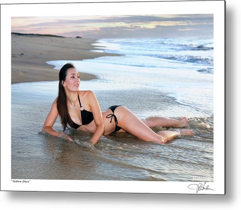 Nude Fine Art Figure Art Glamour Metal Print featuring the photograph Eastern Shore by JR Harke Photography