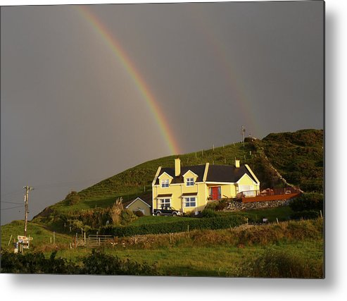 Travel Metal Print featuring the photograph End Of The Rainbow by Mike McGlothlen