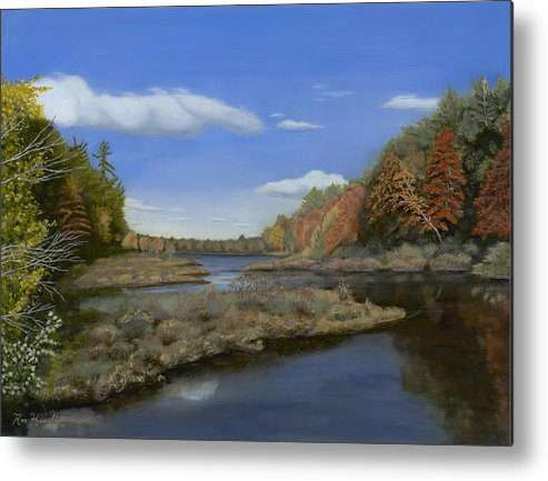 Landscape Metal Print featuring the painting Fall Colors by Ron Hamilton