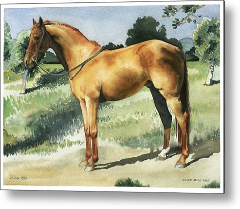 Portrait Metal Print featuring the painting George by Eileen Hale