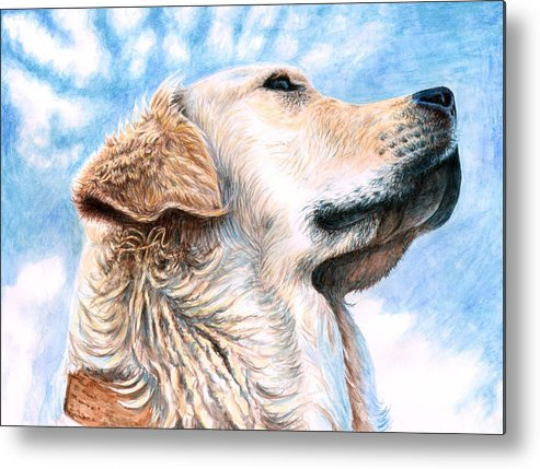 Dog Metal Print featuring the painting Golden Retriever by Nicole Zeug