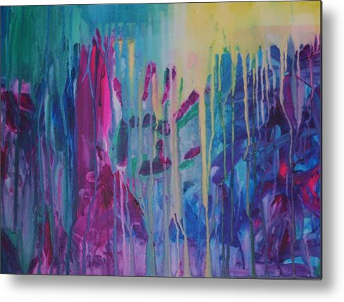 Abstract Metal Print featuring the painting Holding On by Moby Kane