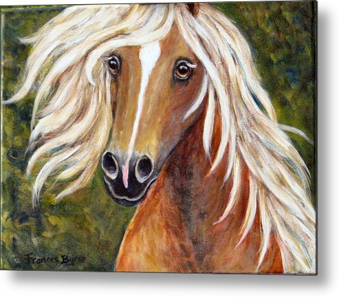 Horse Painting Metal Print featuring the painting Horse Painting Blondie by Frances Gillotti