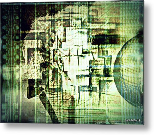 Peculiarities Of Face Metal Print featuring the digital art Identity In Uninterrupted Mutation by Paulo Zerbato