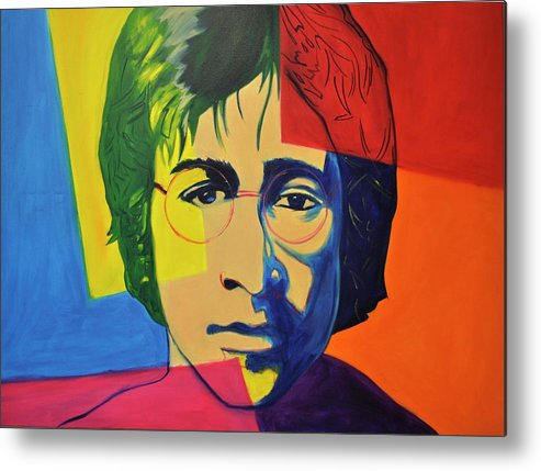 John Lennon Metal Print featuring the painting Imagine by Mitchell Todd