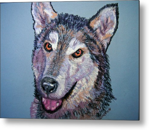 Alaskan Malamute Metal Print featuring the painting King by Judy Fischer Walton