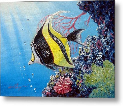 Fish Metal Print featuring the painting Moorish Idol by Daniel Bergren