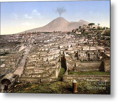 1890 Metal Print featuring the photograph Naples: Mt. Vesuvius by Granger