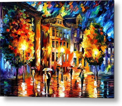 Afremov Metal Print featuring the painting Night Enigma by Leonid Afremov