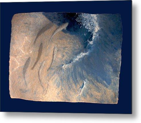 Seascape Metal Print featuring the painting Ocean by Steve Karol