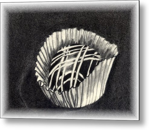 Food Metal Print featuring the drawing Oh Chocolate by Penny Everhart