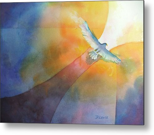 Eagle Metal Print featuring the painting Out by Debbie Lewis