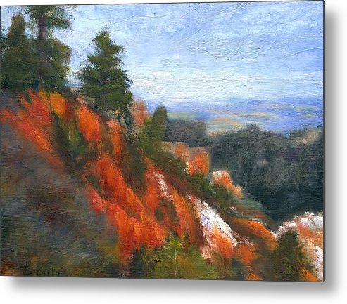 Southwest Metal Print featuring the painting Overlook by Gail Kirtz