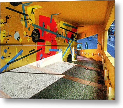 Tunnel Metal Print featuring the photograph Recoleta Tunnel by Francisco Colon