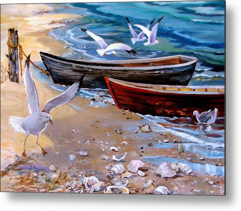 Sea Gulls Metal Print featuring the painting Sea Gull Cove by Dianna Willman