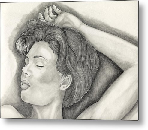 Sketches Metal Print featuring the painting Sleeping by Michael James Toomy