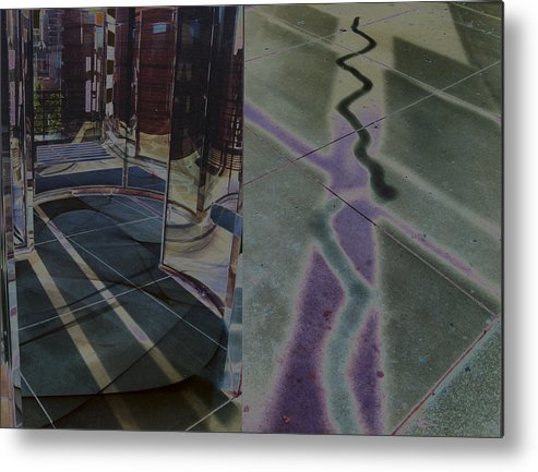 Surreal Landscape Metal Print featuring the photograph Solarized City by Brande Barrett