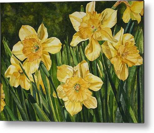 Flower Metal Print featuring the painting Sunshine Kisses by Helen Shideler