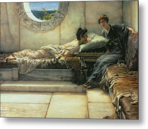 The Metal Print featuring the painting The Secret by Sir Lawrence Alma-Tadema