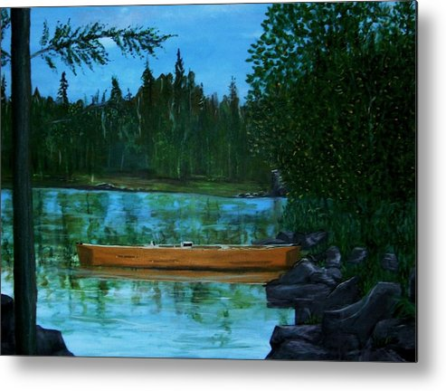 International Falls Metal Print featuring the painting The Wedding Gift by Richard Hubal