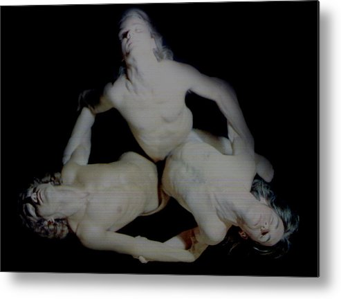 Male Metal Print featuring the painting Trio by Terrell Gates