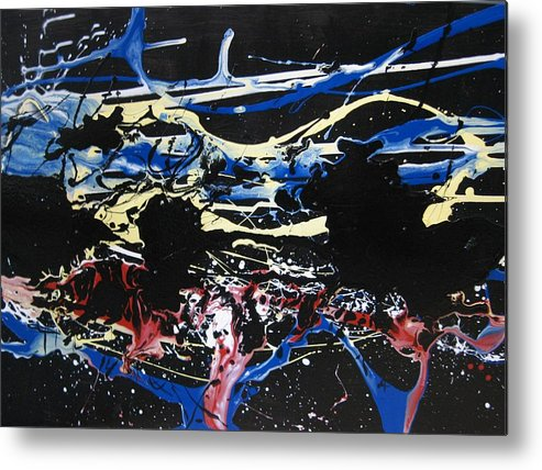 Abstract Metal Print featuring the painting Untitled 3 by Paul Freidin