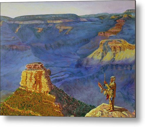 Grand Canyon Metal Print featuring the painting Grand Canyon V by Stan Hamilton