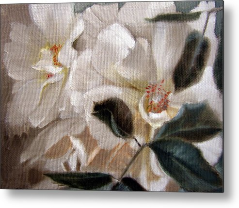 Floral Roses Metal Print featuring the painting Glow by Patrick McClintock