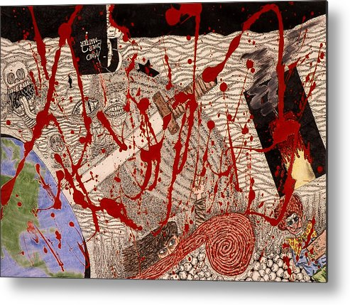 Abstract Metal Print featuring the print Me Against The World by William Watson