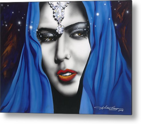 Women Metal Print featuring the painting Desert Moon by Alicia Hayes
